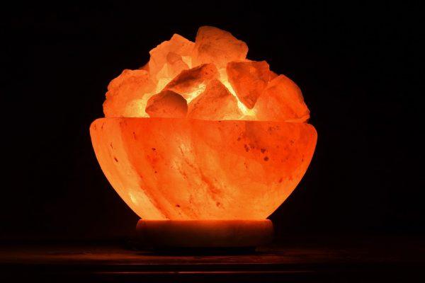 Lampe en cristal de sel